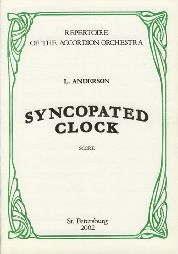 L. Anderson. Syncopated Clock